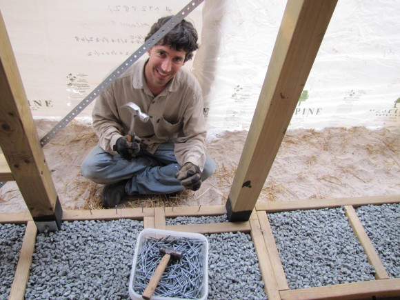 photo credit: Brett hammering nails into toe up - Strawbale House Build in Redmond Western Australia via photopin (license)